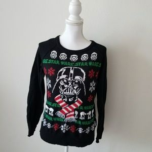 Star Wars Black Knit Christmas Sweater